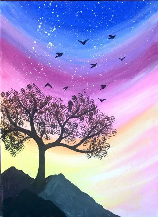 painted wino_Sunrise birds
